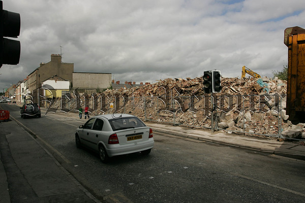 THis section of Canal Street was demolished on Sunday last as part of the Canal Street Regeneration Project. 07W35N25