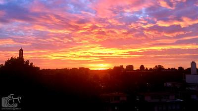Sunset over Weert, NL