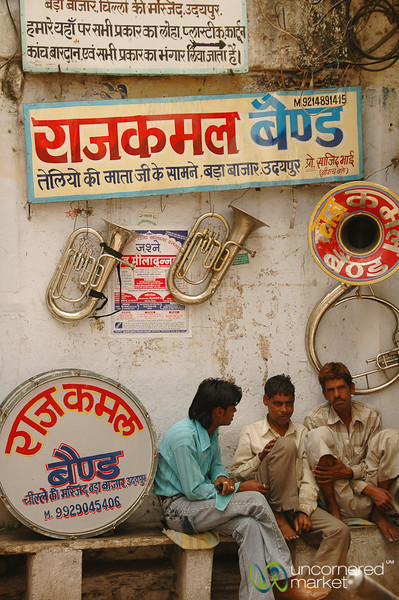 Musicians at the Market - Udaipur, India