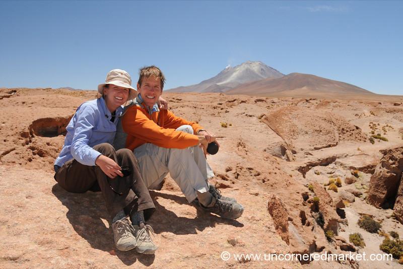 Dan, Audrey and the Volcano - Salar Tour, Bolivia