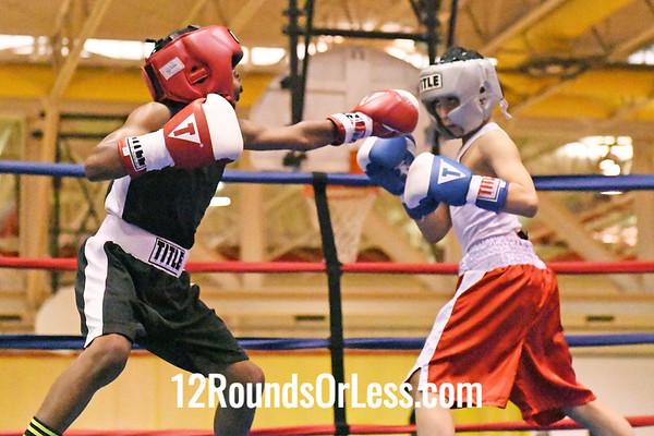 Bout #7: Daben Figueroa, Blue Gloves, Akron -vs- Brieshaun Johnson, Red Gloves, Cincinnati, 75 Lbs.