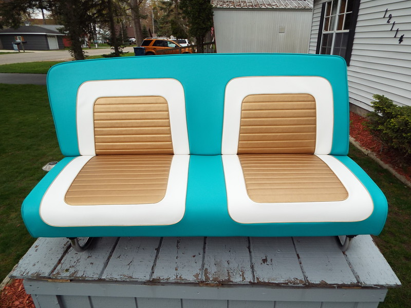 Middle seat completed with all new upholstery and springs.