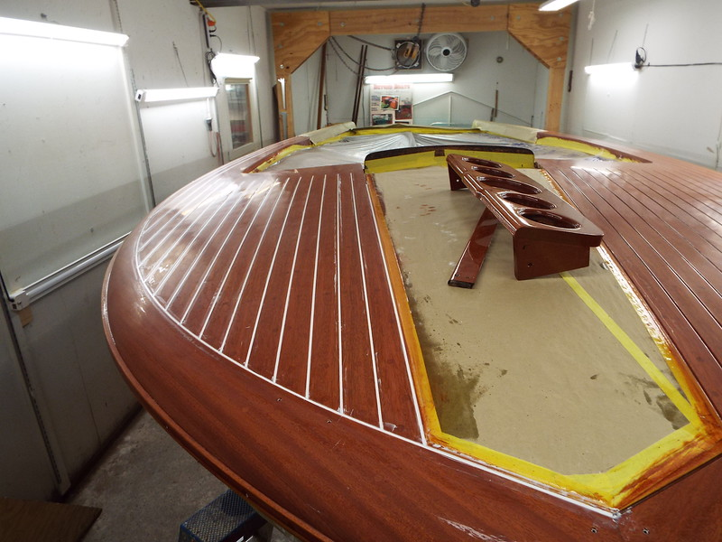 Starboard deck seams completed.