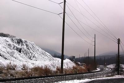 Snow Covered Coal Mountain, Coal Pockets, South Tamaqua (11-26-2013)