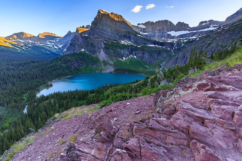 Grinnell Lake & Red Stone