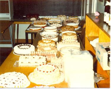 Weihnachtsbasar in den Räumen der Koßmannschule 1978