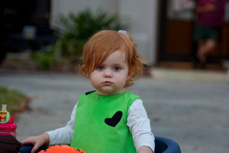 We went trick or treating with our neighbors, the Powells.  This is Macey.