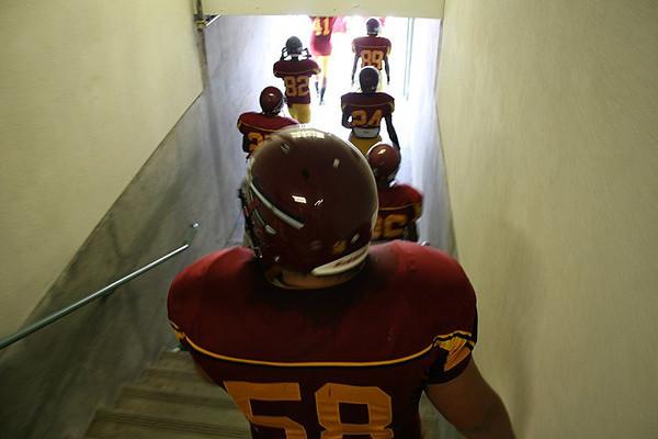 Football walk into the light