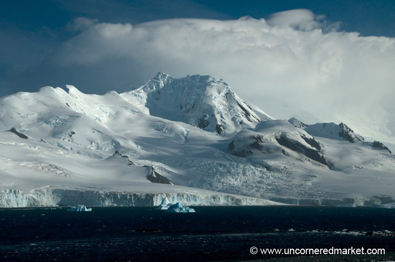 Mountain View from Half Moon Island - Antarctica