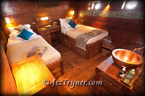 Garuda cabin, Arenui, Raja Ampat, Indonesia, Indian ocean, Asia