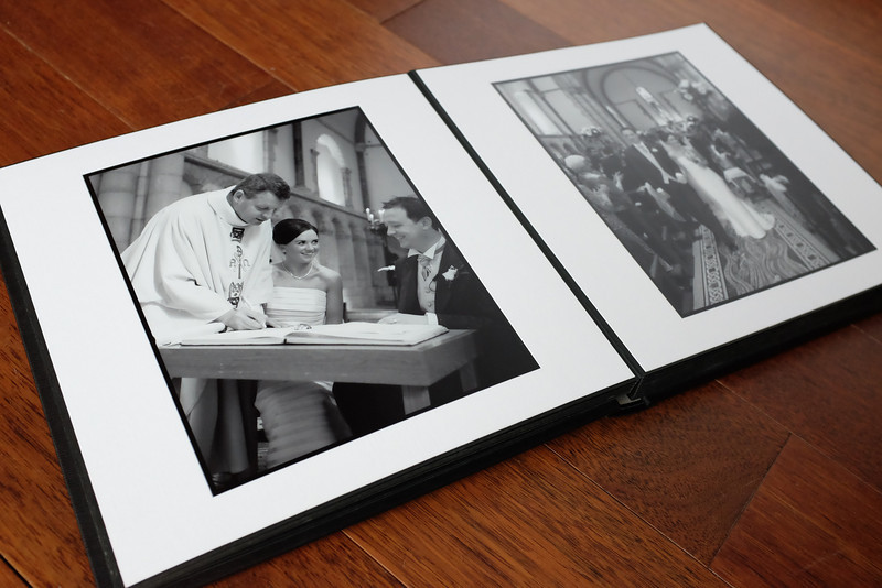 """A classic matted album 12""""x12"""". Cover materials in black, white or sand colour"""