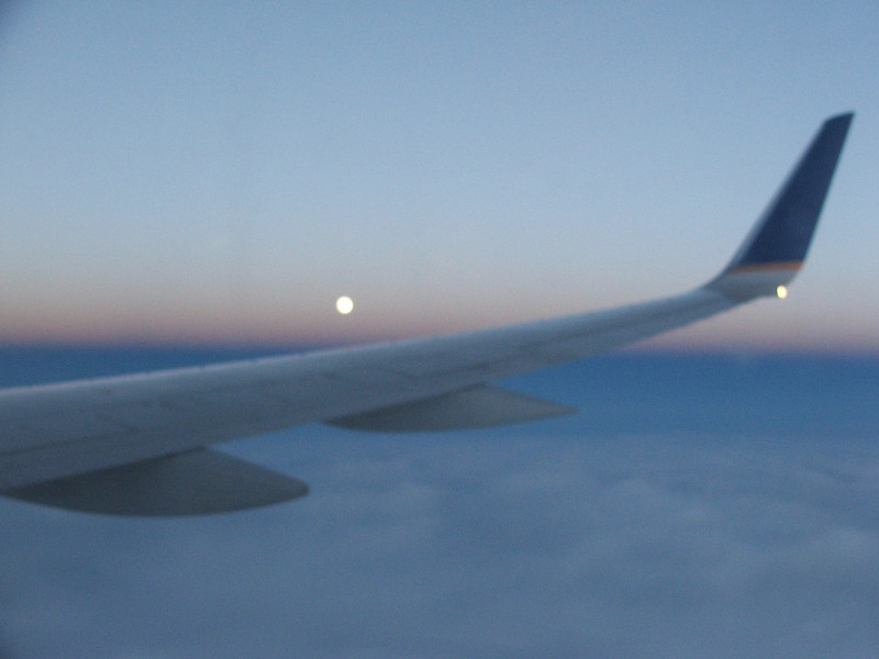 Moon rising over the Atlantic