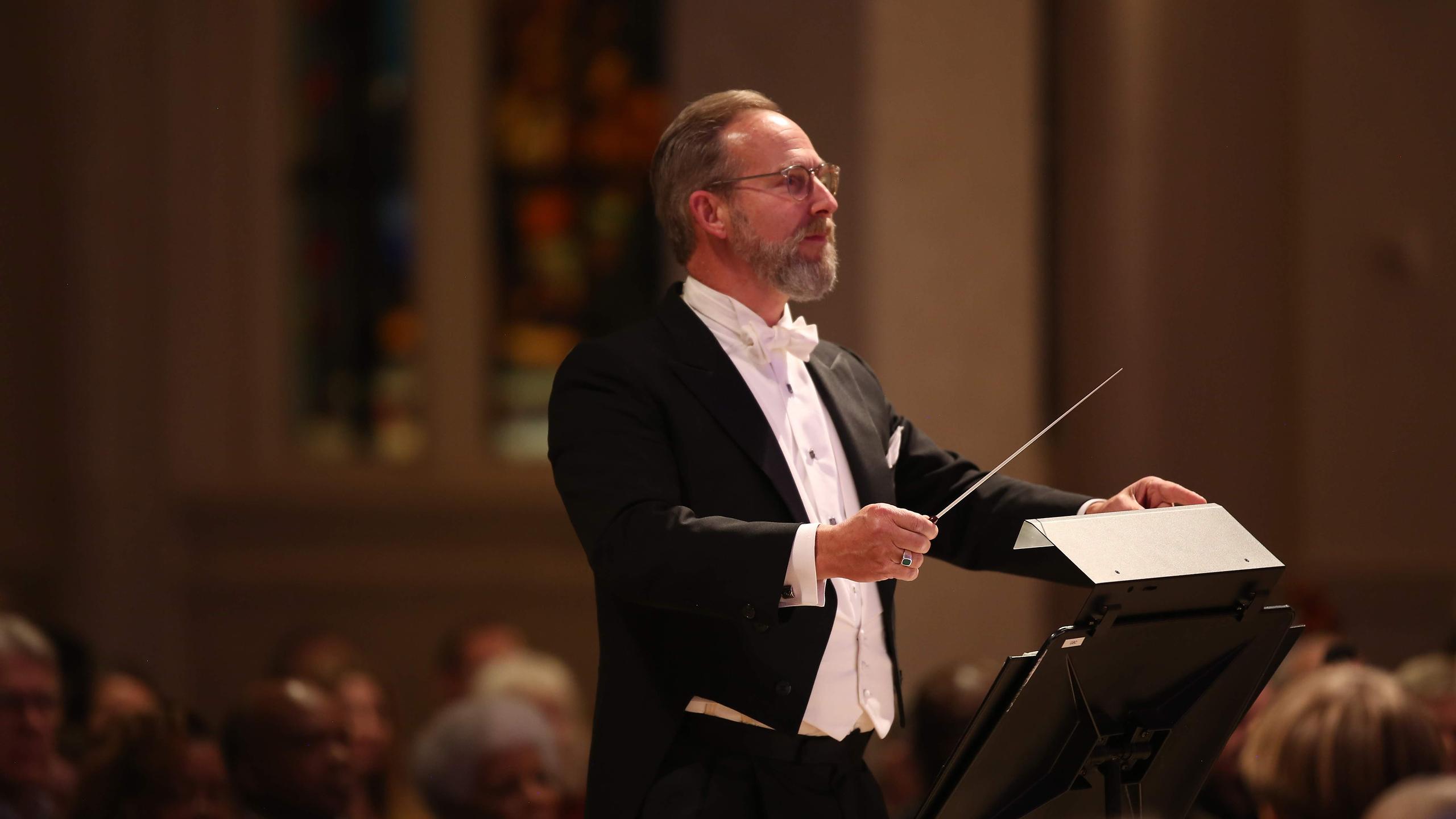 David White conducts the Georgia Boy Choir.