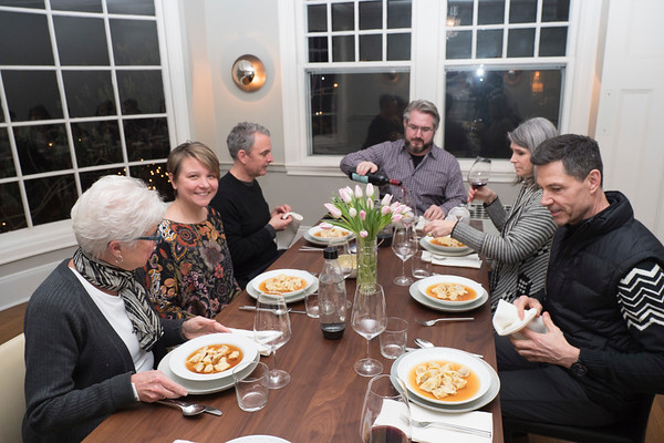 2017 New Years Dinner at Shawn and Davies Home