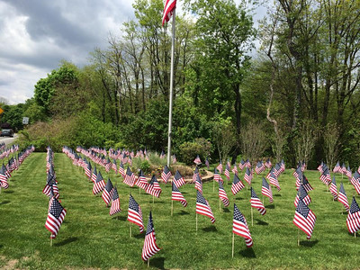 Placing Flags, photos from Lisa Hiles, Hiles Brothers, Summit Hill (5-23-2014)