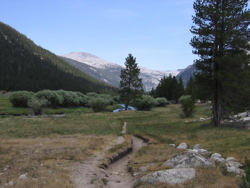 JMT/PCT, Lyell Canyon, and Lyell Fork.