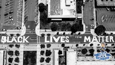 Richmond Revolution Drone Shots BLM Street Art