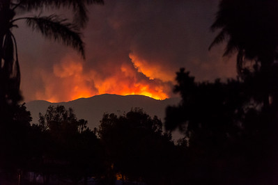 Sand Fire Viewed From SBWR