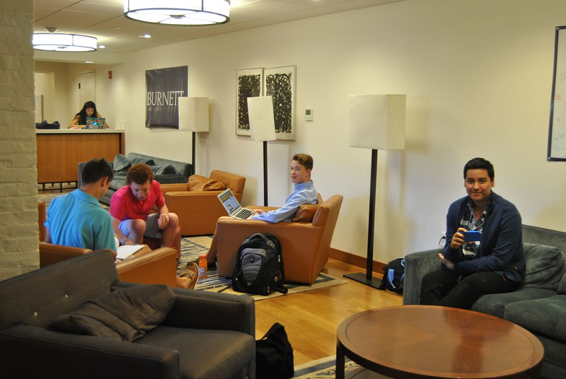 Burnett House; Day Student area for lounging, storage, studying