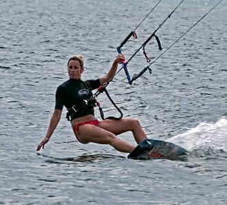 Fort Desoto Far East Beach Kite Surfers