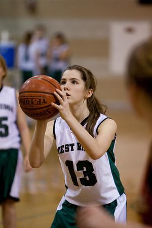 WRMS Girls Basketball vs LT 2009