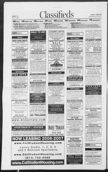 Daily Trojan, Vol. 157, No. 33, March 01, 2006