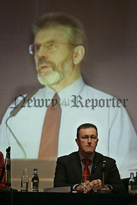Conor Murphy MP pictured at the public meetingon Policing at the Canal Court Hotel Newry on Monday evening. 07W4N18