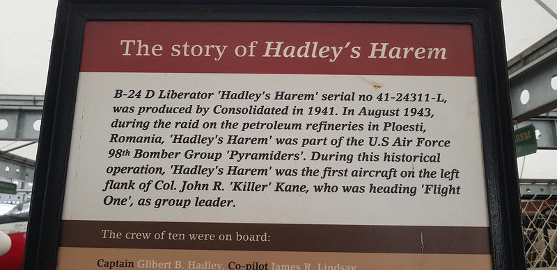 Information about Hadley`s plane and mission