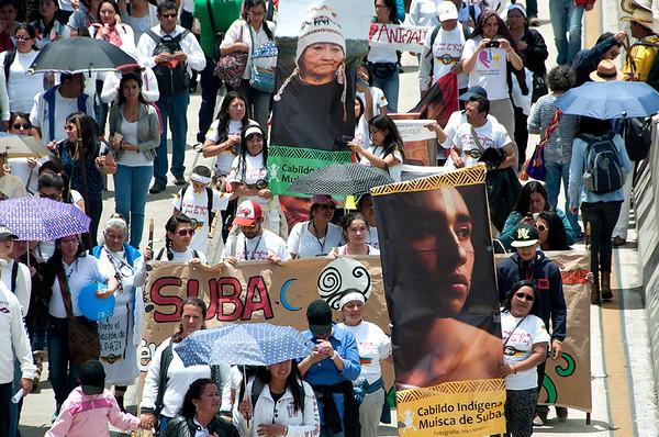 Así fue la marcha por la paz en Bogotá