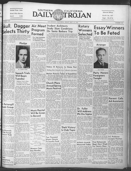 Daily Trojan, Vol. 30, No. 135, May 12, 1939