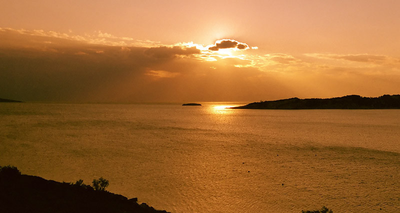 Sunset in Varkiza, Greece (2006)