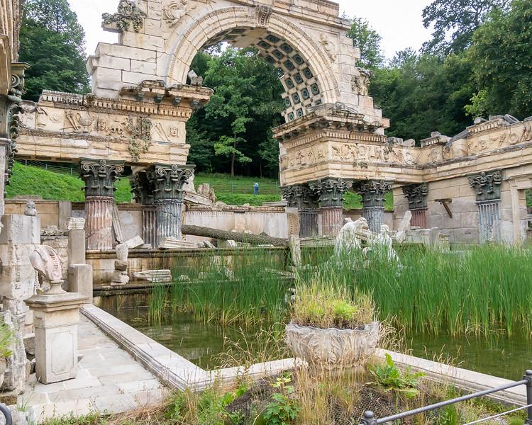 """Picturesque """"Roman"""" ruins, circa 1778."""
