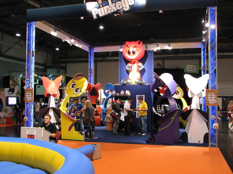 Some Kiddie booth on Games Convention 2008