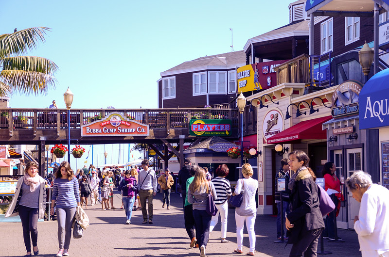 Pier 39, a place for shopping, dining, and strolling