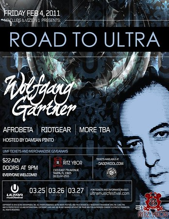 "Wolfgang Gartner ""Road To Ultra"" February 4, 2011"