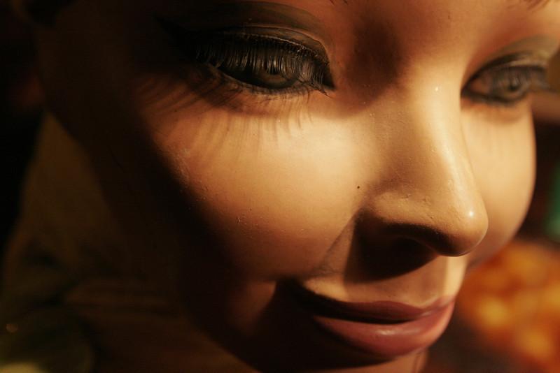 Wax doll face, from a friend's collection, Copenhagen, Denmark, 2012