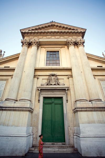 Facade of San Rocco church, Rome