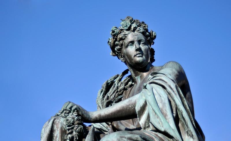 Female Figure Representing River Mur, Fountain of Archduke Johann, Hauptplatz in Graz, Styria (Austria)