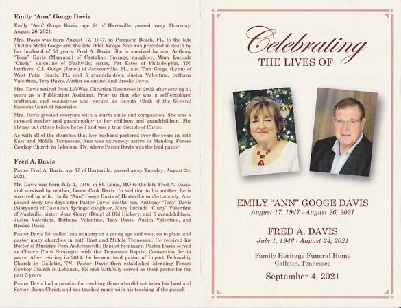 Pastor Fred Davis and Ann Davis Memorial Dedication Video