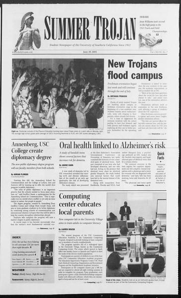 Summer Trojan, Vol. 155, No. 7, June 29, 2005