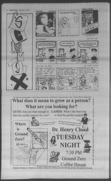 Daily Trojan, Vol. 133, No. 21, February 09, 1998