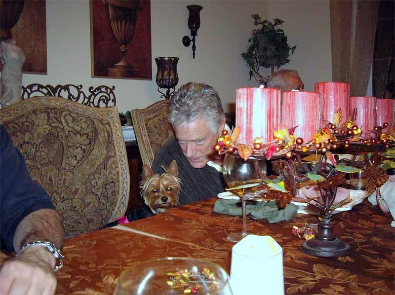 Jim & Zoie - Thanksgiving dinner partners.JPG