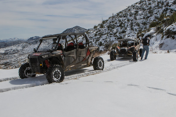 First Ride 2018  RZR 4 1000 XP Bumble Bee AZ Snow 2-24-19 No WM