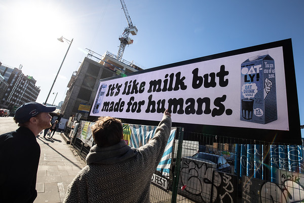 29/10/18 - Oatly - 'It's like milk, but made for humans'campaign
