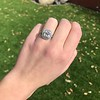 2.85ct Antique Cushion Cut Diamond Halo Ring 25