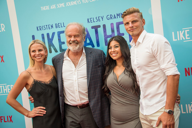 HOLLYWOOD, CA - JULY 31: Kayte Walsh, Kelsey Grammer, Phillip Walsh and Amanda Walsh arrive at the Premiere Of Netflix's 'Like Father' at ArcLight Hollywood on Tuesday, July 31, 2018 in Hollywood, California. (Photo by Tom Sorensen/Moovieboy Pictures)