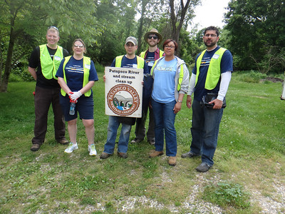 5.21.13 Cleanup Along Patapsco River with T. Rowe Price Employees Near Elkridge Furnace Inn