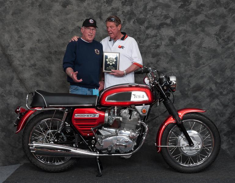 Bill Whalen, Winner of Honorable Mention / Silver Star Award - 1969 BSA Rocket 3