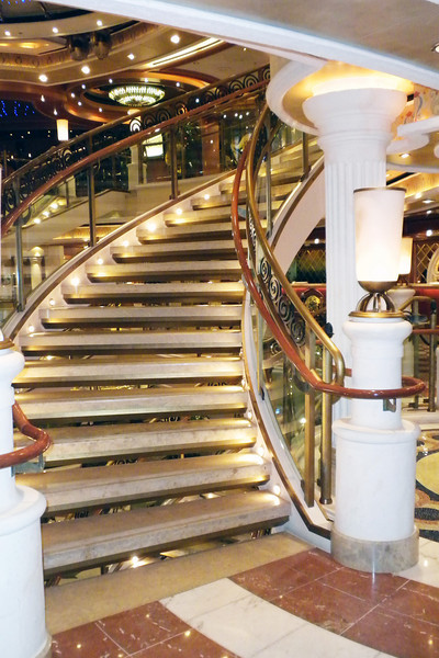 Grand staircase to the Piazza