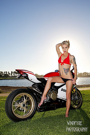 Ashley and the Ducati